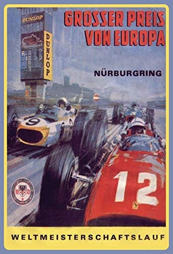 Blechschild Auto Nürburgring Grosser Preis Europa Metallschild Deko tin Sign -