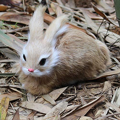 Faway Mini Conejos realistas 15 cm, decoración de Conejo de Felpa de Color Blanco con un Bonito Peluche de Conejo de Pascua