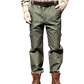 SEIBERTRON Impermeabile / Water Repellent Pantaloni M65 BDU tattici militari Verde 30