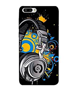 PrintVisa Designer Back Case Cover for Huawei Honor 6 Plus (Power Shape Peace Abstract Religion Ohm Illustration)