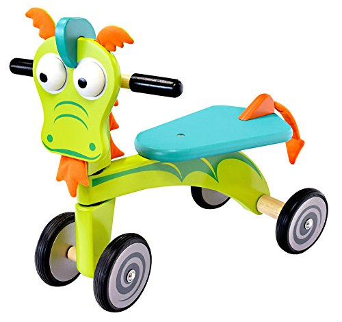 Triciclo in Legno Cavalcabile DRAGO cm 47x42x30 cavalcabile per bambini....