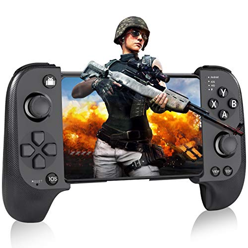 Android Controller, BEBONCOOL SAITAKE Mobile Controller für iPhone, Wireless Gamepad Handy Controller für Android/IOS, Wireless Controller für PUBG Mobile/Arena of Valor/Knives Out -