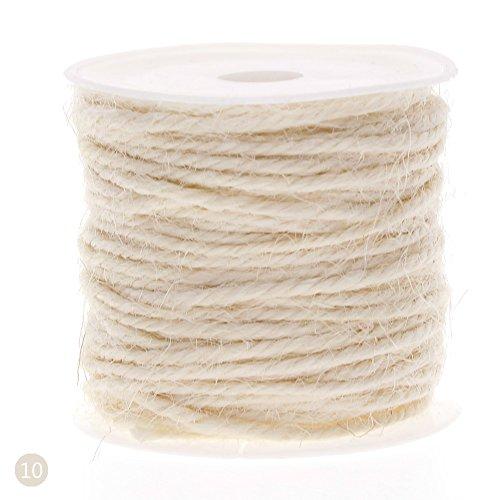 Rungao 10m DIY Hanf Seil 2mm natürliche Craft Jute Seil Kordel Dick für weiß