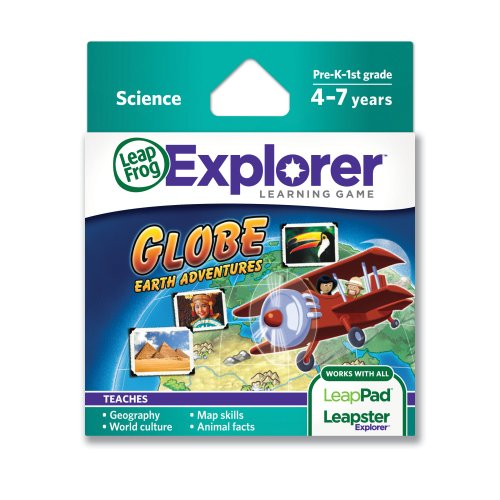 LeapFrog Leapster Explorer Educational Game Cartridge - Globe Earth Adventures