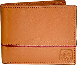 Woodland Men Tan Genuine Leather Wallet (W532041TAN)