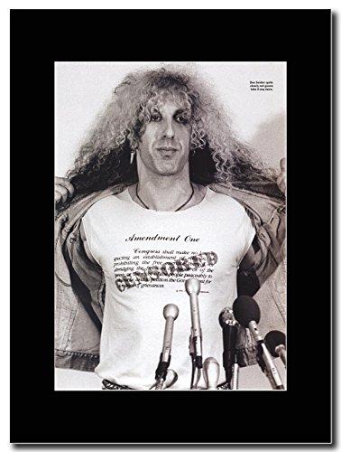 """Twisted Sister """", motivo: Dee Snider, frigorifero Promo Magazine"""" su un supporto, colore: nero"""