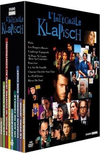 L'intégrale Klapisch: Paris, Les poupées russes, Ni pour ni contre, L'auberge espagnole, Peut-être, Un air de famille, Chacun cherche son chat, Le peril jeune, Riens du tout.