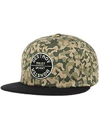 WITHMOONS Gorras de béisbol Gorra de Trucker Sombrero de Camouflage Patch  Snapback Hats Black Brim SL2282 dbd844193ee