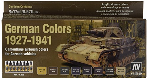 Acrylicos Vallejo'German Colors 1927-4.930,1cm Model Air set
