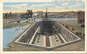 POSTER Boat in Dry Dock collection postcards id 2778 Ships Cargo ships Piers wharves Harbors Ohio--Ashtabula Miami Wall Art Print A3 replica