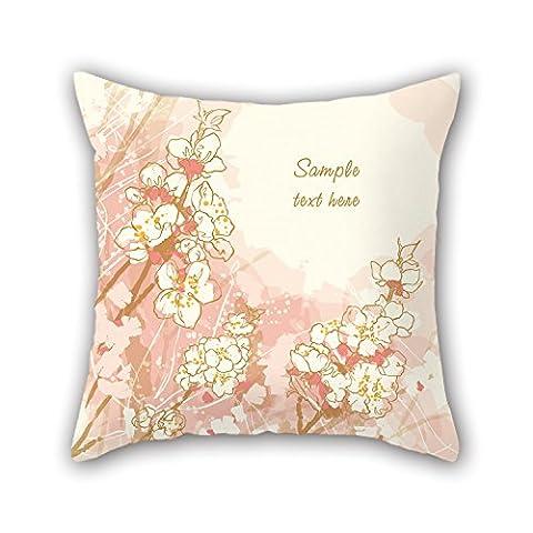 Pillo la fleur Taie d'oreiller du, 45,7x 45,7cm/45, 45cm de décoration, cadeau pour vos proches, GF, chaise longue, chambre d'enfant, Couples, Her (deux côtés)