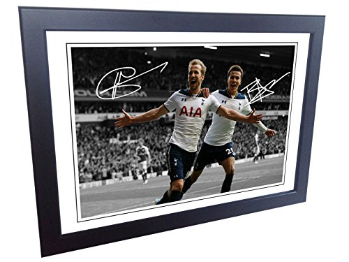 12×8-Signed-Harry-Kane-Dele-Alli-Tottenham-Hotspur-Spurs-Autographed-Photo-Photograph-Picture-frame-Gift