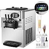 SucceBuy Machine à Crème Glacée Enfant de Table Professionnel Sorbetière à Glace Ice Cream Machine (argent)