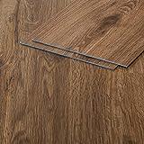 Vinylboden Klebevinyl Eiche 905 braun Holzoptik 2,5mm Vinyl Bodenbelag fürs Bad TAMI