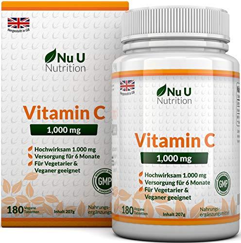 Vitamina C 180 Comprimidos. Suministro para 6 Meses)