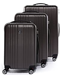 FERGÉ Conjunto de tres maletas TOULOUSE - ABS Dure-Flex - 3 trolley rígidas - 3 sizes - equipaje con 4 ruedas (360) para (51 x 77 x 30 cm)