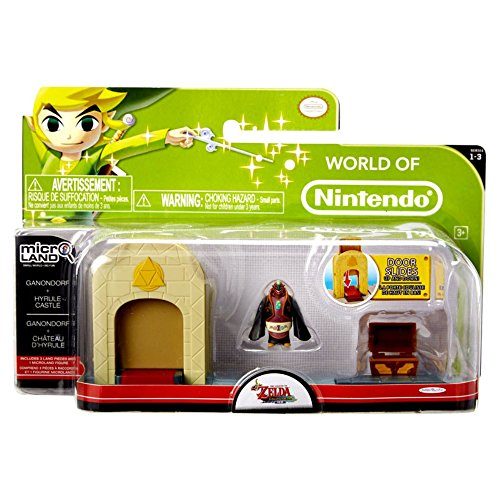 Mario Bros - World of Nintendo Micro Land Zelda Playset, Castle with Ganondorf figura (Jakks Pacific JAKKNIN028CG)