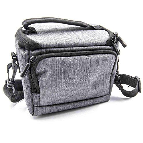 vhbw Polyester Foto-Tasche Grau für Kamera Olympus OM-D E-M10, OM-D E-M5, Pen E-PL6, Pen E-PL7, Pen E-PM1
