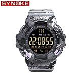 Msxx Tarnung Military Watch, intelligente elektronische Uhr für militärische Taktische Kampf-Enthusiasten,Gray