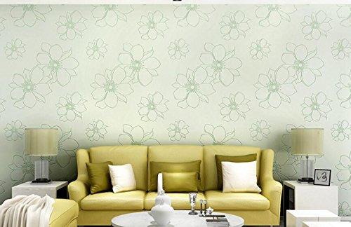 CNMDGBWY Moderne, Einfache Dreidimensionale Non Woven Tapeten In Warmen Garten Pasta Linie Schlafzimmer Wohnzimmer Tv Hintergrund Behang 53Cmx9.5M - Garten Pasta