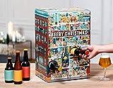 Bier Adventskalender | Beery Christmas 24 Flaschen | verschiedene limitierte internationale Craft Biere als Geschenkbox (24 x 0,33l) | Geschenkidee für Männer | Weihnachten
