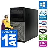 Dell PC Tour 7020 Intel Pentium G3220 RAM 8Go Disque Dur 500Go Windows 10 WiFi (Reconditionné)