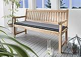 Destiny Bankpolster 140 cm *GRAU * Kissen Auflage für Gartenbank Bank Polster Neu