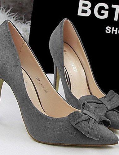 ShangYi Chaussures Femme - Mariage / Habillé - Noir / Rose / Rouge / Gris - Talon Aiguille - Talons - Talons - Velours gray