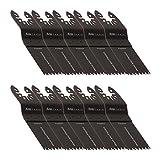 10 KROP Multi Tool Blades Quick Release 35mm Precision Wood fits DeWalt Black & Decker Stanely FatMax Worx Sonicrafter Hyperlock.