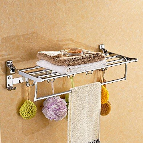 mmhy mit Haken Edelstahl Handtuch gefaltet Handtuchhalter Badezimmer shelf-bath Metall zum Aufhängen Rack Handtuch Rack, Bright Your Life (Nautical Bath Handtuch-haken)