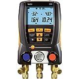 Testo 0563 5506 550-2 - Analizzatore di refrigerazione con 2 sonde di temperatura, pinze e valigetta di trasporto rigida