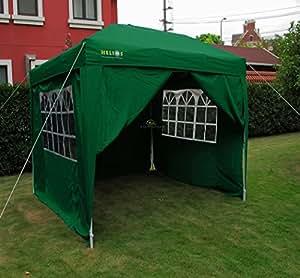 helios deluxe gartenpavillon mit 4 seitenteilen acht bein gewicht 3x3 m. Black Bedroom Furniture Sets. Home Design Ideas