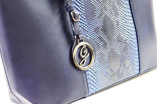 Gallantry - Sac de cours sac à main fille sac lycéenne Bleu(reptile)-nouvelle édition