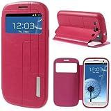 Flip Case Handy-Hülle Etui Business Case Cover Ständer Samsung Galaxy S3 / GT-I9300, Galaxy S3 LTE / GT-I9305, Galaxy S3 Neo / GT-I9301 deep pink