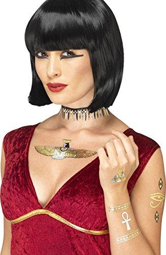 Smiffy's 41555 - Ägyptische Übertragung Tattoos Metallic (Kostüme Ideen ägyptische)