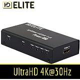 HDElite - Splitter HDMI 4 ports 1.4 - 1 source HDMI vers 2 ECRANS - FULL HD 1080p - Haute Qualité
