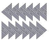 BOOLAVARD 100% Cotton 1pcs, 6pcs or 12pcs Pack Bandanas with Original Paisley Pattern Colour of Choice Headwear / Hair (12 Grey)