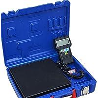 HUKOER Báscula electrónica de carga de refrigerante con Calibración de precisión electrónica, ...