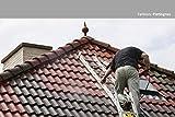 24KG Dachfarbe in Platingrau für Ziegel, Dachpfanne, Eternit TÜV-GEPRÜFT Dachsanierung Dachbeschichtung Dachziegel Farbe Grau