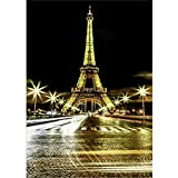 Unbekannt Générique Stickerei Leinwand Diamant Mosaik Strass 5D Diamond Painting Komplettset Dekoration Wohnzimmer Paris 3 30x40cm