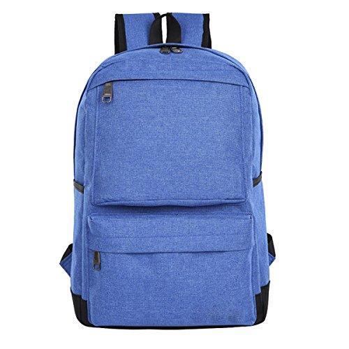 Ogert Schultern Outdoor-Freizeit-und Geschäftsreisen Rucksack Laptop-Tasche,Black Blue