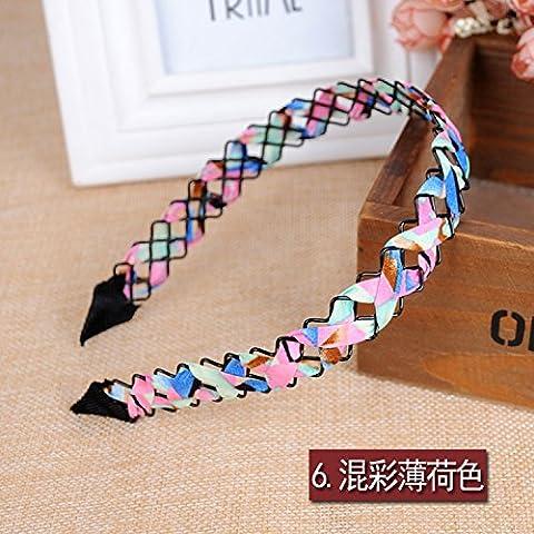 Il coreano Hairbands incisione Treccia di filo di acconciatura di testa femminile contro il bordo largo della carta con accessori per capelli ,16*13*2cm,5