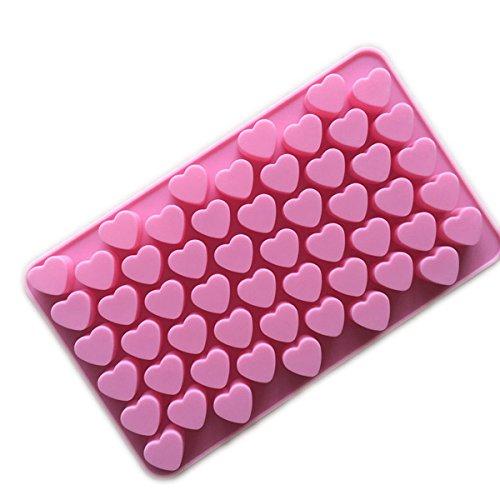 Xcellent Global Mini Herzform Silikon Eiswürfel / Schokoladen Gießform verschiedene Farben M-HG011 (Blumen Schimmel Schokolade)