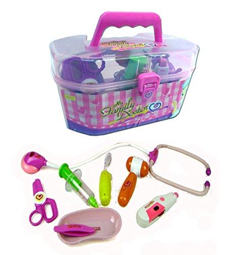 Spielzeug Arztkoffer mit umfangreichem, funktionierendem Zubehör (pink) thumbnail