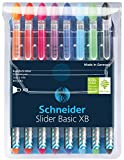 Schneider Slider Basic Stylo-bille non rétractable Couleurs Assortis Lot de 8