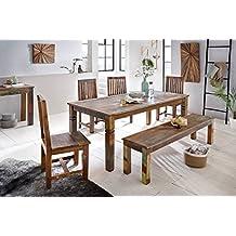 wohnling mesa de comedor delhi x x cm mango shabby madera slida elegante
