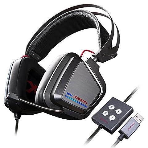 Casque Gaming pour PC, XIBERIA S25 Casque Gamer de Son Surround Virtuel 7.1 avec Micro pour ordinateur Mac PS4 PC portable