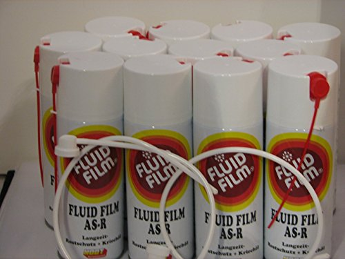12 x Fluid Film AS-R Langzeit-Rostschutz Kriechöl 400ml Sprühdosen + 2 xSonde GRATIS