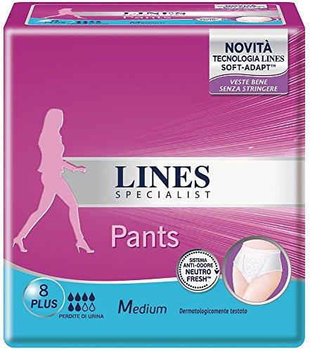 Lines Specialist Pants Plus Assorbenti per Urina,...