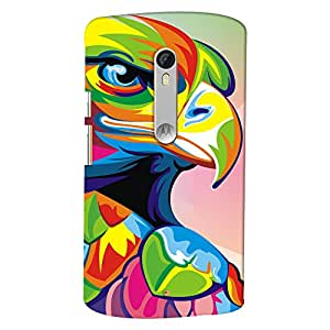 ColourCrust Motorola Moto X Style Mobile Phone Back Cover With Animal Art - Durable Matte Finish Hard Plastic Slim Case